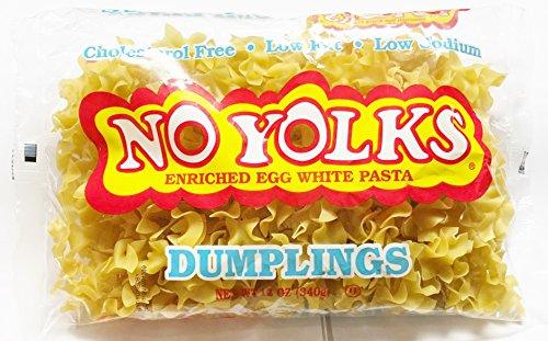 No Yolks Enriched Egg White Pasta - Dumplings 12 oz. (Pack of 4)