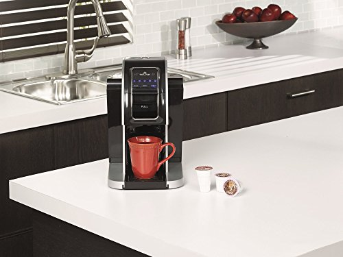 Touch Pro Single Serve Coffee Brewer w/ Plum Connection - Silver Coffee Maker with Full K-Cup Pod Compatibility & Rapid Brew Technology - T714C