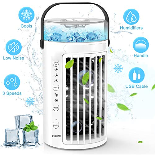 (50% OFF Coupon) PECHAM Portable Air Conditioner Fan – Personal Air Cooler $24.99