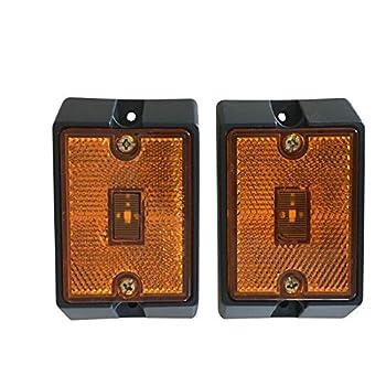 MAXXHAUL 80745 Side Marker LED Amber Light - 2 Pack