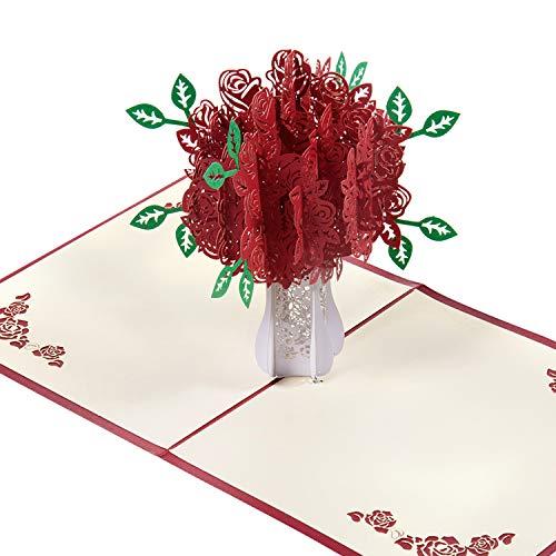 Czemo Carte 3D Carte Mariage avec Enveloppe Cartes de Vœux Pop-Up Cartes d'Anniversaire, Valentin Cartes