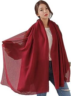 (レンニハハ)ストール 大判 マフラー レディース スカーフ 女性用 羽織 上品 シンプル 春 秋 冬 無地