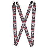 Buckle Down Men's Suspender-Cars, One Size