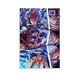 GUCII Póster de One Piece, cuadro decorativo, lienzo para pared, sala de estar, póster para dormitorio, 40 x 60 cm
