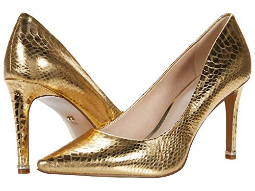 Kenneth Cole New York Women's Riley 85 Pointed Toe Pump, Gold, 4 UK