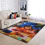 Lymnaraa Colorido adorno alfombra interior acento alfombra suave...