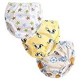 3Pcs Graphic Potty Training Underwear Baby Boys Reusable Nappies Cloth Diaper Kids Toilet Training Pants,5T