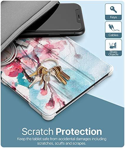 MoKo Hülle Kompatibel mit Lenovo Tab M8 HD TB-8505F/ Smart Tab M8 / Tab M8 FHD, Ultra Slim PU Leder Tasche Schutzhülle Standfunktion Kompatibel mit Lenovo Tab M8 (TB-8505F) Tablet - Pfirsichblüte