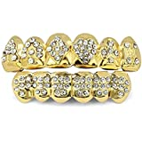 TOPGRILLZ 18K Gold Plated Iced Out Hip Hop...