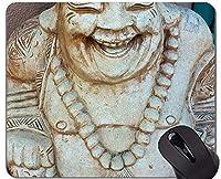 ロッキングエッジ付きマウスパッド、仏陀仏像パーソナライズ長方形ゲーミングマウスパッド