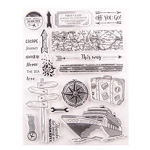Journey Ship Travel Adventure Stamps Rubber Clear Stamp/Seal Scrapbook/Photo Album Decorative Card Making Clear Stamps