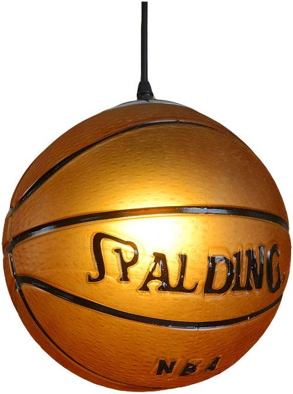 Wandun Retro Basketball kronleuchter kreative persnlichkeit Restaurant bar tischstadion Shop Sport Thema Kunst Dekoration Basketball kronleuchter (25 cm)