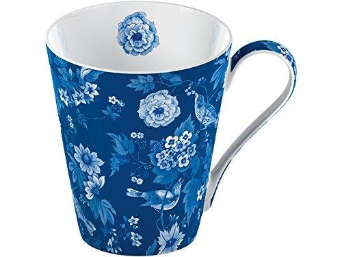 Creative Tops Tasse Conique en Porcelaine Anglaise Motif Oiseaux Bleu