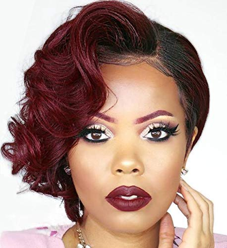 BeiSDWig Short Curly Hairstyles for Women Curly Synthetic Wigs for Black Women Short Wig Curly Hair 5 Styles Available (BeiSD-9680)