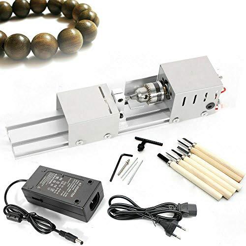 Wangkangyi NeueDrehmaschine 100W Mini Präzise Drehbank Drechselbank Drehmeißel Perlen Holz Poliermaschine Polieren Miniature