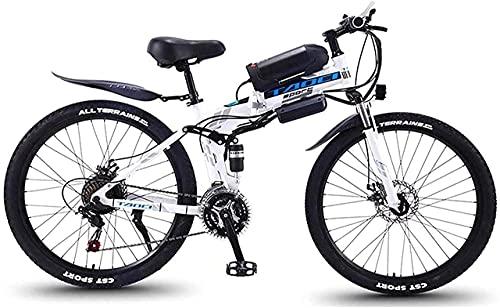 N&I Bicicleta eléctrica de 21 velocidades de 26 pulgadas con pantalla LED de 350 W, 48 V y 10,4 Ah, batería para bicicleta eléctrica para hombre