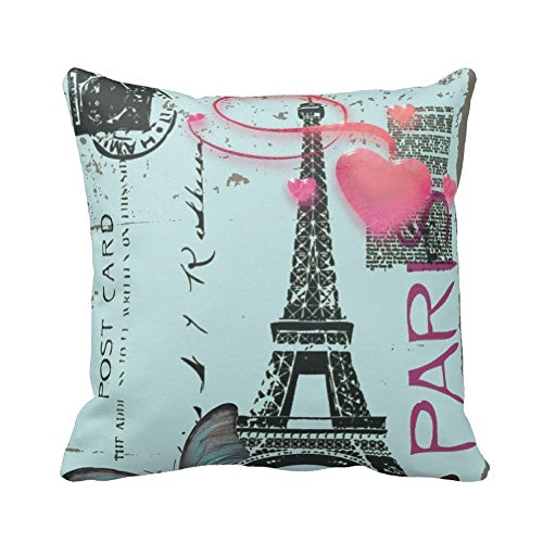 Crazy_Friday Paris Eiffel Tower Kussensloop Katoen & Polyester Zachte Decoratieve Thuis Kussen Kussen Case 18