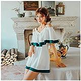 Maillot de bain conservateur Swimwear Skirt Siamese Swimsuit Large Size féminine comprend les viandes fées épaule Fan Couverture de la baignoire jacuzzi sexy XMJ 3XL blanc