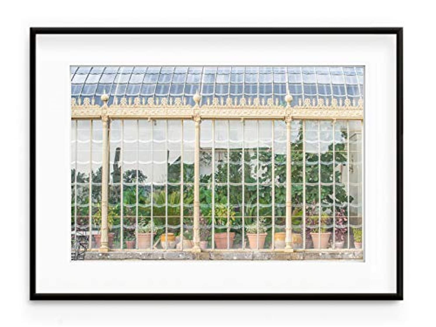 Green House Black Satin Aluminium Frame with Mount, Multicolored, 30x40