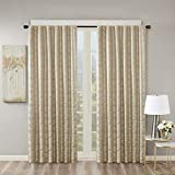 SunSmart Cassius Jacquard Blackout Curtain For Bedroom,...