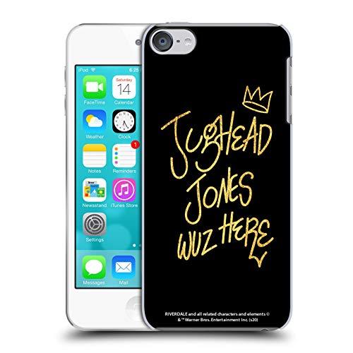 Oficial Riverdale Jughead Wuz Here Negro Oro Jughead Jones Carcasa rígida Compatible con Apple Touch 6th Gen/Touch 7th Gen