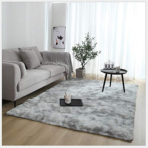 ETAOLINE Rugs Living Room Large Faux Fur Rug Soft Modern Shaggy Rugs (Grey, 5.2ft x 7.5ft (160 x 230 cm))