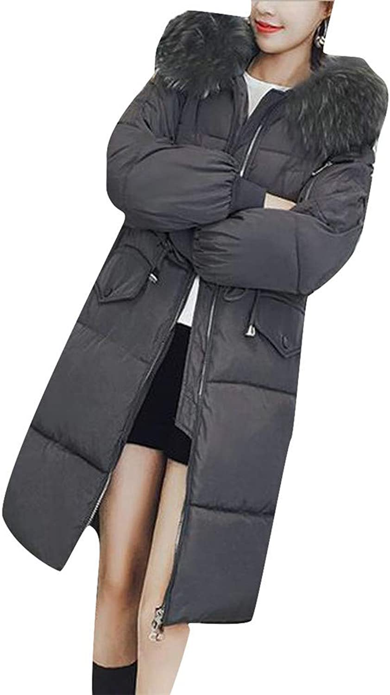 Blyent Women's Loose Hoodid Plus Size Padded Fleece Down Jacket Anoraks Parka Coat