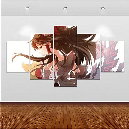 NOBRAND ZNIDEAL Cuadro sobre Lienzo Impresiones Fotos Inicio Arte de la Pared Animación Modular 5 Piezas Deseo Venganza Cartel Pintura Moderna Lienzo Impresiones en Lienzo