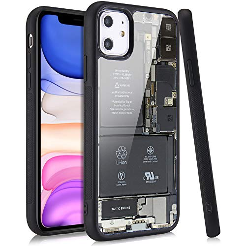 LuGeKe Motherboard Print Phone Case for iPhoneXR,Circuit Board Patterned Case Cover,Soft Silicone Case with Metal Sheet Anti-Stratch Bumper Protective Boys Phonecase(Unique Style)