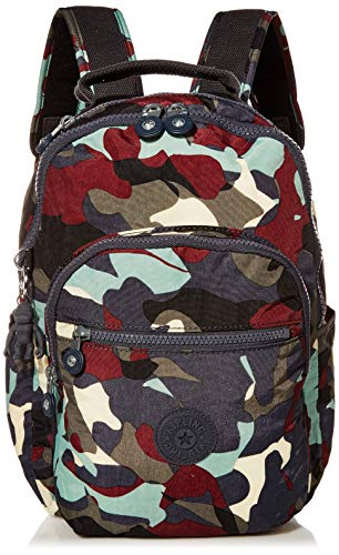 Kipling Women's Seoul Small Backpack, CAMO LEATHER, One Size