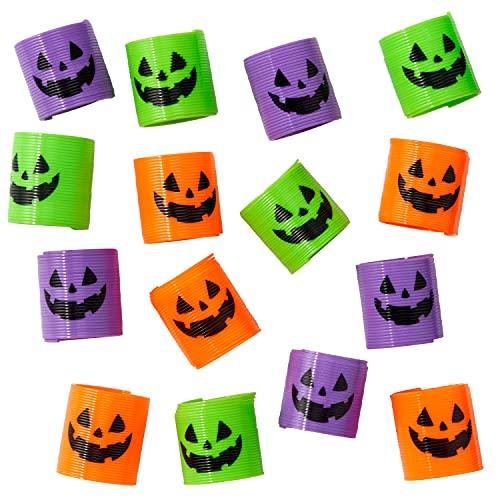 THE TWIDDLERS 36 Mini Muelles Mágicos de Halloween - 4 Estilos de Resortes de Juguete - Decoración Halloween - Piñata, Fiesta Regalos Bolsas, Trick or Treat Favores