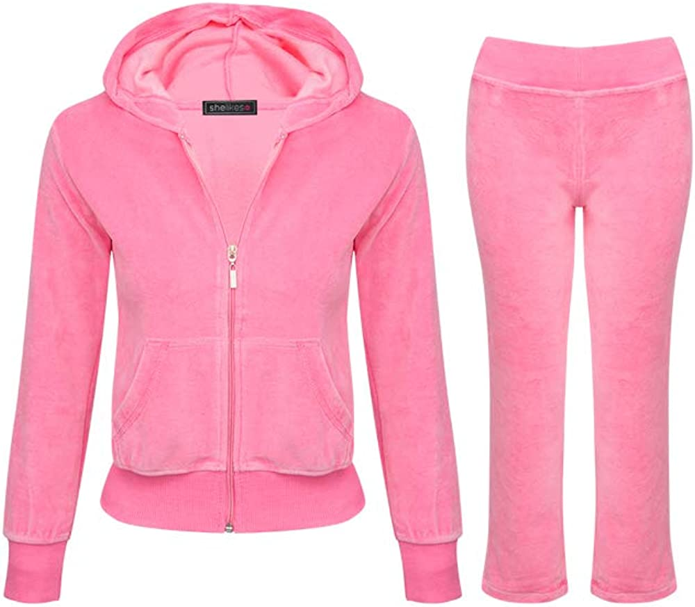 Girls Tracksuit Set Kids Hooded Sweatshirt Jogger Pants Lounge Wear Outfit set