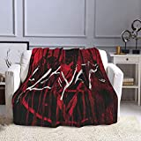 BobBThorpe Slayer The Vinyl Conflict Lightweight Wool Blankets,Comfortable Throwing Blankets Fashion Blankets,Flannel Blankets,Four Seasons Nap Warm Blankets,Fluffy Bed Blankets for Sofas