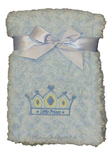Couverture Bébé Garçon Bleu Avec inscription en anglais ''Little Prince''' Super douce