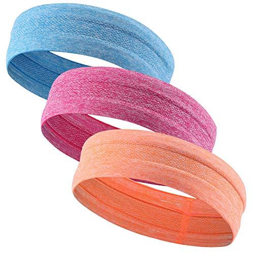 Sykooria Sport Stirnband Anti Rutsch Schweißband Kopfband elastische atmungsaktive Haarbänder zum Fitness Yoga Gym Laufen Wandern Joggen für Männer und Frauen