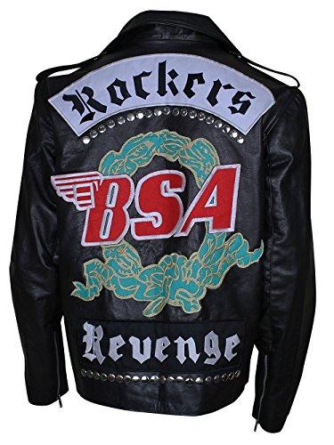 George Michael Rockers Revenge BSA Faith - Chaqueta de piel sintética