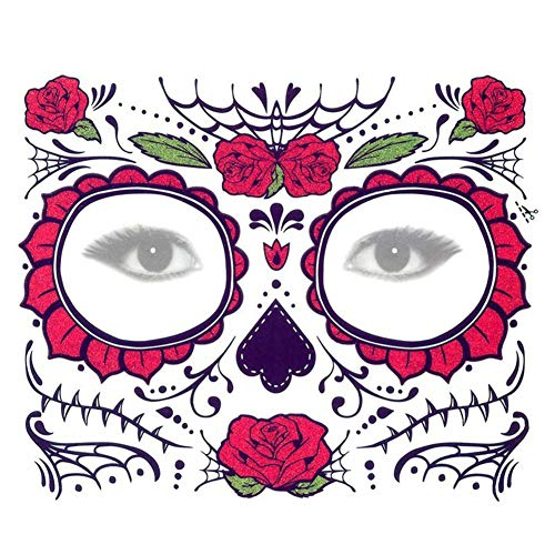 Xuxuou 15*25cm Facial Tatuaje Diseños Impermeables