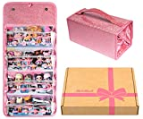 Grin Owl Doll Storage Display Case, Compatible with LOL Dolls and Accessories, Easy Carrying Doll Organizer