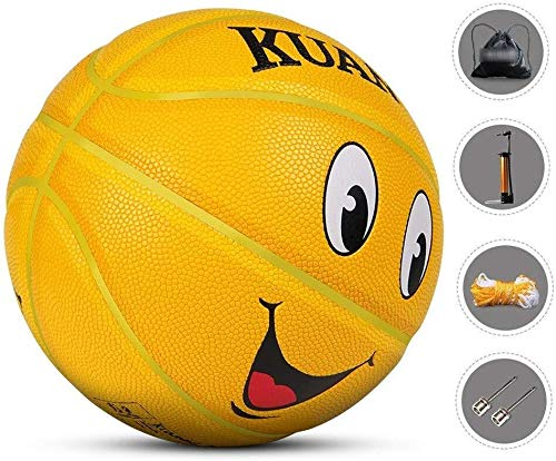 Find Discount ZHOU.D.1 Basketball- Children's Basketball Indoor and Outdoor NO.5 Basketball 8.7 Inch...