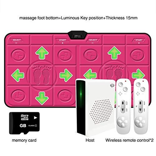 Nfudishpu Thicken Wireless Dance Pad, Kinder Spiel Tanzmatte Tanz Revolution Hd Tv Computer Dual-Use Motion Fitness Laufmatte