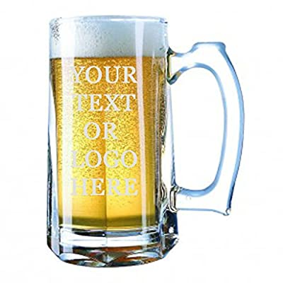 Giant Custom Beer Mug 28 Ounces Personalized Beer Stein - Personalized Add Your Own Engraved Text Customizable Gift For Him, For Her, For Boys, For Girls, For Husband, For Wife, For Them, For Men,