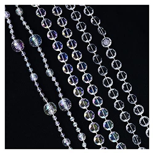 Cortinas De Borla 2 unids 3M Acrílico Cuentas de cristal de acrílico Cortina Garland Decoraciones de boda Pearl String Beads Cadena para baby shower boda fiesta bricolaje suministros Cortinas De Perla
