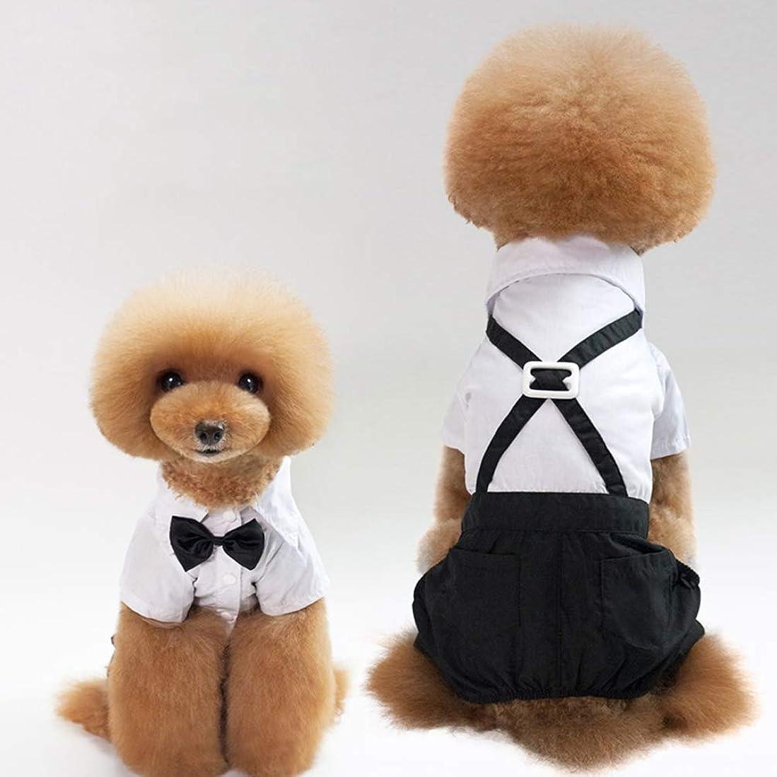 タオル衰えるチートペット服 犬の服 犬洋服 紳士スーツ 新郎 結婚式 ウェディング 蝶ネクタイ 制服 ズボン 犬礼服 お祝い 記念撮影 写真 誕生日 パーティー 男の子 小型犬 中型犬 大型犬 S/M/L/XL/XXL