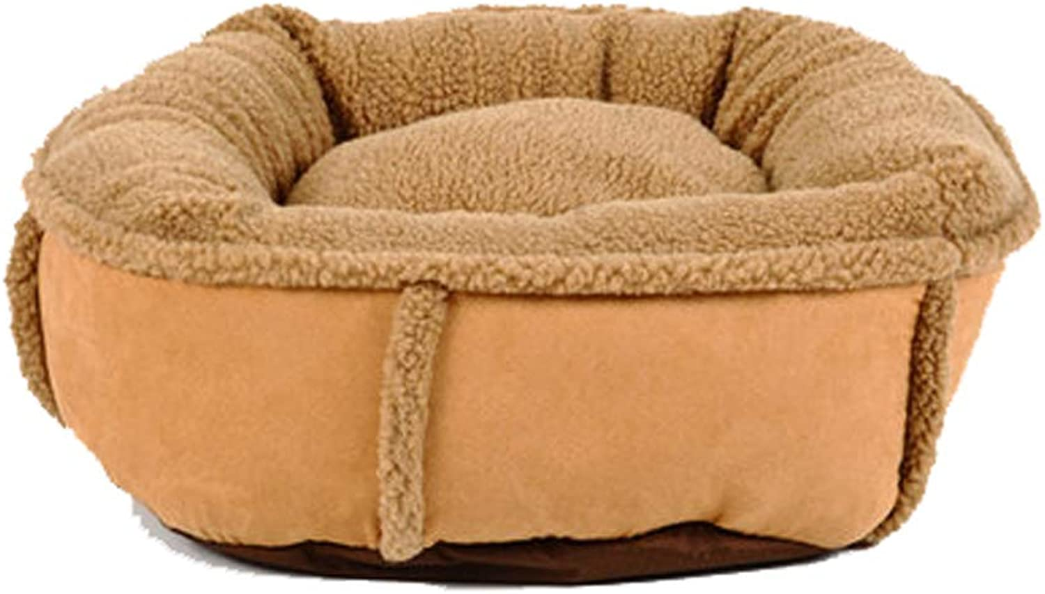 Four Seasons Universal Pet Nest Fully Removable And Washable Small Doublesided Padded Rebound Cotton Dog Cat Litter Mat Bed 2 color Optional 60cm50cm18cm MUMUJIN (color   Brown)
