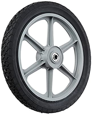 "MaxPower 335110 14"" x 1.75"" Spoked Plastic Wheel with Diamond Tread"