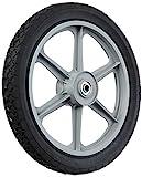 MaxPower 335110 14' x 1.75' Spoked Plastic Wheel with Diamond Tread, Black