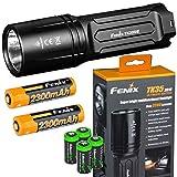 EdisonBright Fenix TK35 Ultimate 2018 Edition UE 3200 Lumen LED Tactical Flashlight with 2 X Fenix Li-ion Rechargeable Batteries, 4 X CR123A Lithium Batteries Bundle