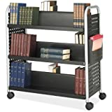 Safco Scoot Double Sided Book Cart - 6 Shelf...