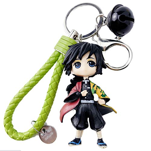 Suguroo Demon Slayer Model Key Chain Tomioka Giyuu Model Pendant for Lunch Bag