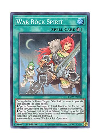 遊戯王 英語版 LIOV-EN090 War Rock Spirit (スーパーレア) 1st Edition